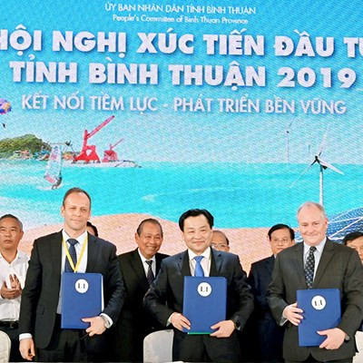 """Press Release: Enterprize Energy group signed investment commitment with the People's Committee of Binh Thuan Province at """"Investment Promotion Conference 2019"""""""