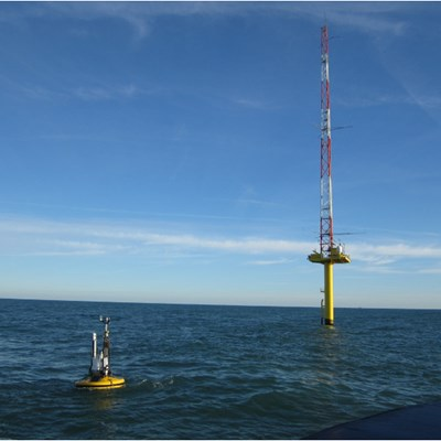 Preparation to install and operate floating FLIDAR buoy - Thang Long Wind project (off Ke Ga cape), Binh Thuan province